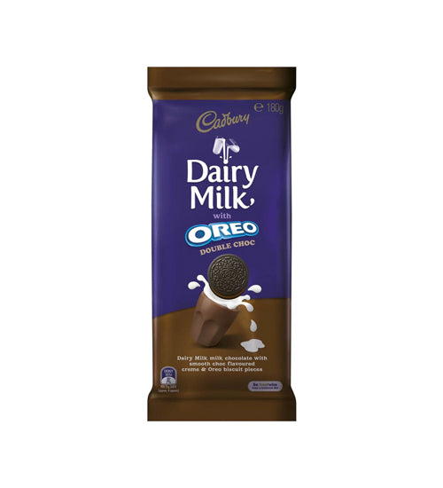 Cadbury Dairy Milk With Oreo Double Choc 180g - Grocery Deals