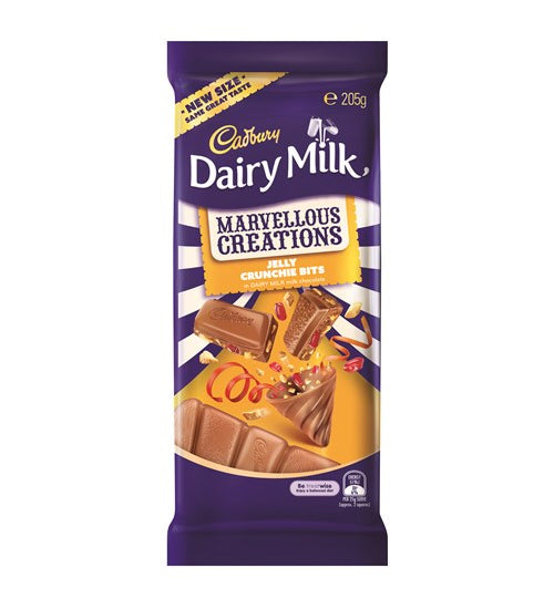 Cadbury Marvellous Creations Chocolate Block Jelly & Crunchie Bits 205g - Grocery Deals
