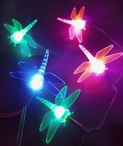 10 Coloured LED Dragonfly Battery Fairy Lights - Grocery Deals