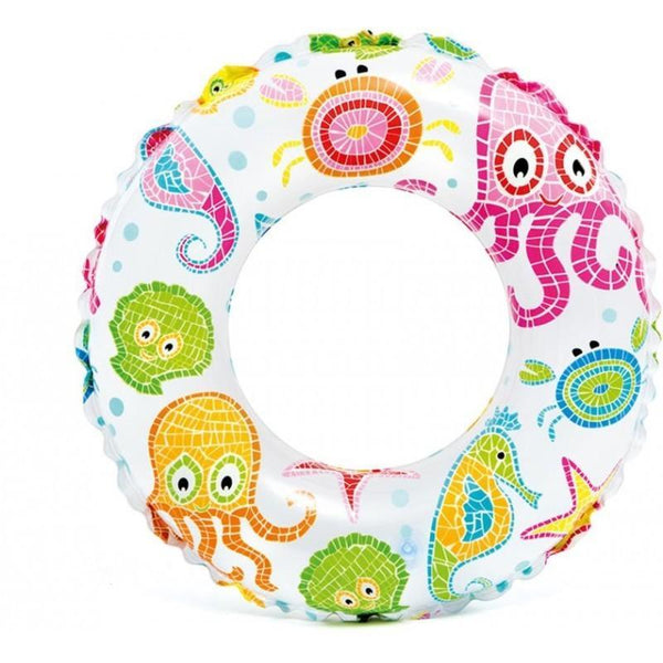 Intex: Lively Print Swim Ring – Ocean Creatures  51cm - Grocery Deals