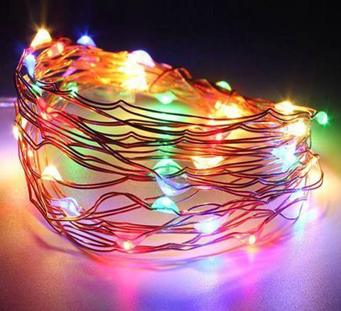 Multi Coloured Seed String LED Lights - Grocery Deals
