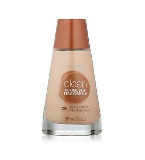 COVERGIRL Clean Makeup Foundation, Normal Skin Buff Beige 125  30ml - Grocery Deals