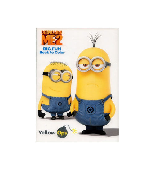 Despicable Me2 Jumbo Coloring & Activity Book - Yellow Ops - Grocery Deals