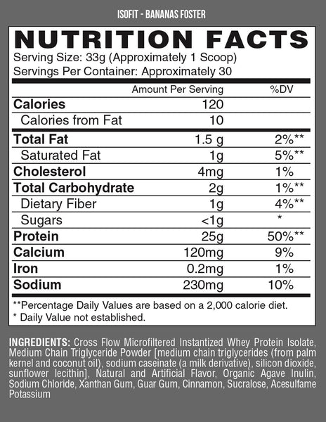 Nutrex Isofit Premium Dessert Isolate Protein 2lb - Grocery Deals