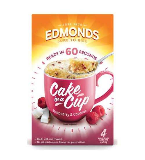 Edmonds Cake In A Cup Cake Mix Raspberry & Coconut - Grocery Deals