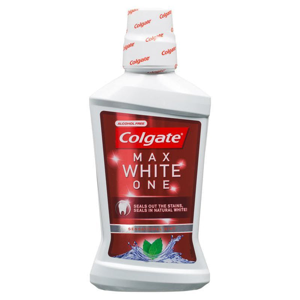 Colgate Max White One Mouthwash 500ml - Grocery Deals
