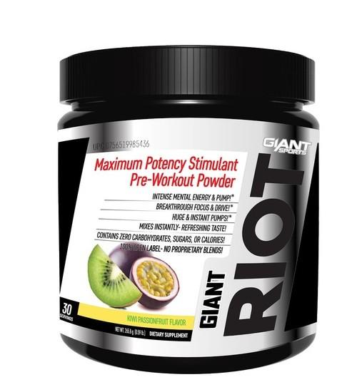 GIANT SPORTS RIOT PRE-WORKOUT - Grocery Deals