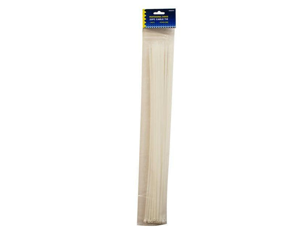 Cable Ties 50cm x4.8mm White x 15 - Grocery Deals