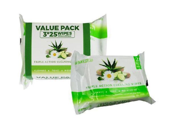 3 Pack Facial Wipes - Grocery Deals