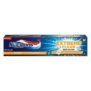 Macleans Extreme Clean Toothpaste Deep Action Whitening tube 170g - Grocery Deals