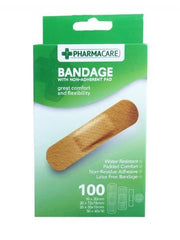 Pharmacare 100 Assorted Size Water Resistant Bandages - Grocery Deals