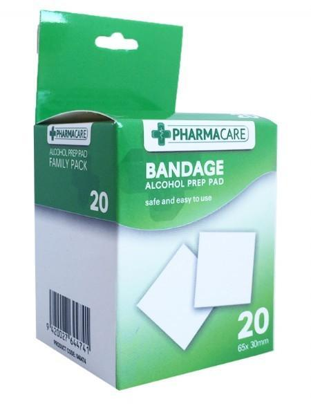 Pharmacare 20 Alcohol Prep Pad - Grocery Deals