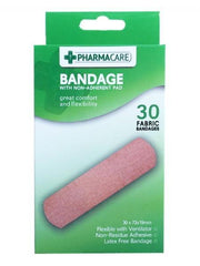 Pharmacare 30 Fabric Bandages - Grocery Deals