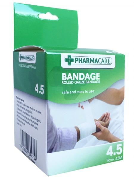 Pharmacare 4.5m Rolled Gauze Bandage - Grocery Deals