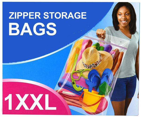 1 x Zipper Flexible XXL Storage Bag 61 x 50.8cm - Grocery Deals