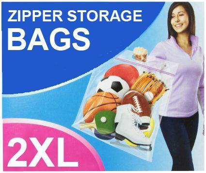2 x Zipper Flexible 2XLarge Storage Bags 52.1cm x 43.2cm - Grocery Deals