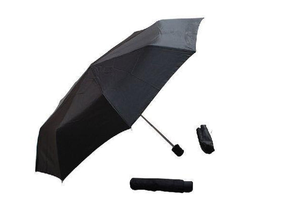 3-Fold Manual-open Umbrella 52cm Black - Grocery Deals