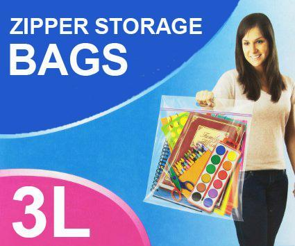 Home & Living - 3 X Zipper Flexible Large Storage Bags 38.1cm X 38.1cm