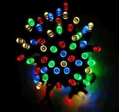 50 LED Solar Fairy Lights - Multi Coloured - Grocery Deals