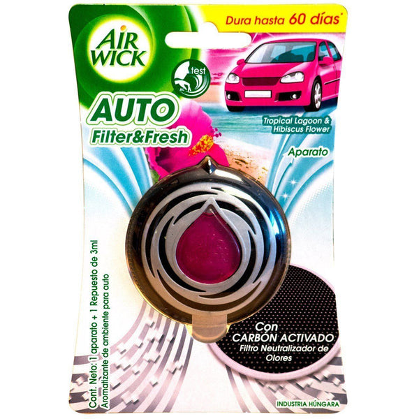 Air Wick Auto Filter & Fresh - Tropical Lagoon & Hibiscus Flower - Grocery Deals
