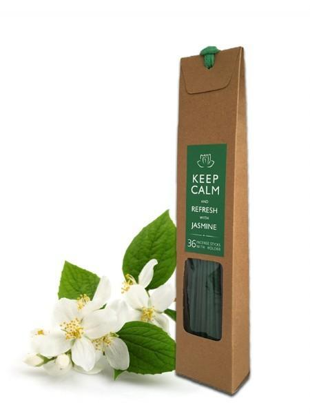 Keep Calm and Refresh with Jasmine 36 Incense Sticks with Holder - Grocery Deals