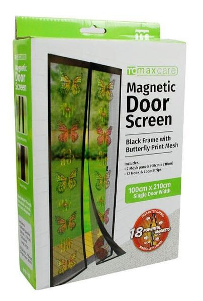 Snap Magnetic Door Bug and Insect Screen - Butterfly - Grocery Deals