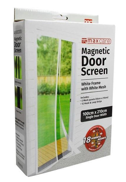 Snap Magnetic Door Bug and Insect Screen - White - Grocery Deals