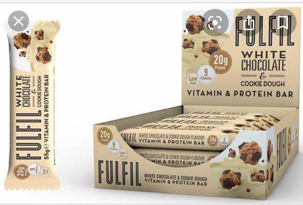 Box of Fulfil Vitamin & Protein Bars white choc & cookie dough