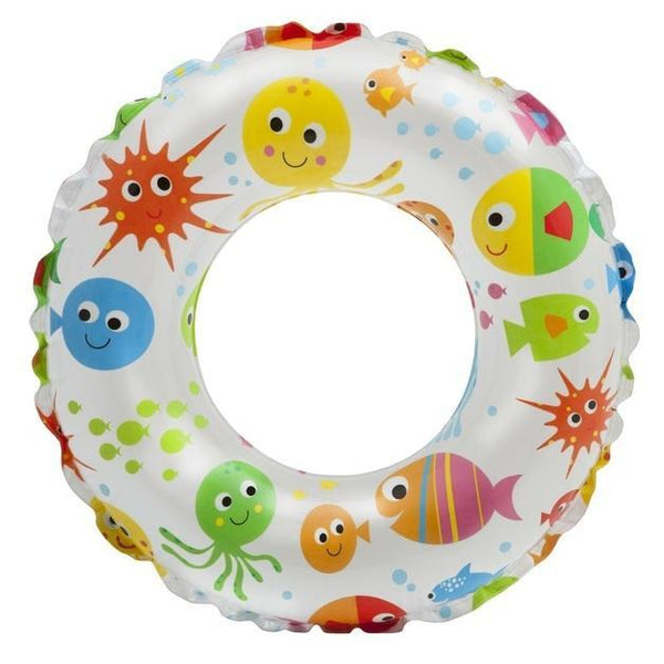 Intex: Lively Print Swim Ring - Ocean 61cm - Grocery Deals