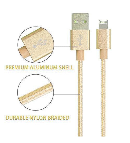 1 Metre Iphone Lightning Cable Nylon Braided Charge Cable