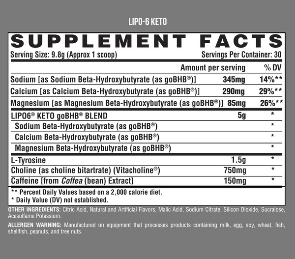NUTREX LIPO-6 KETO - Grocery Deals
