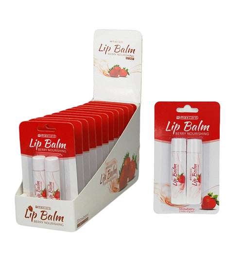 Maxcare Lip Balm Strawberry 2 Pack