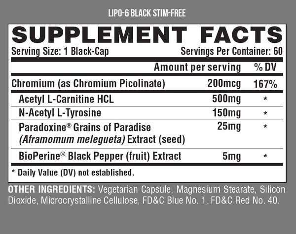 Nutrex Lipo 6 Black Stim-Free - Grocery Deals