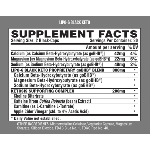 NUTREX LIPO-6 BLACK KETO - Grocery Deals