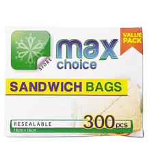 Max Choice Sandwich Bags 300 Pack - Grocery Deals