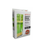 Snap Magnetic Door Bug and Insect Screen - White