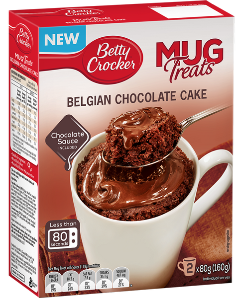 Copy of Betty Crocker Mug Treats, Belgian Chocolate Cake - Grocery Deals