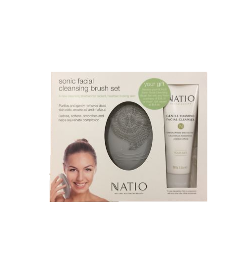 Natio Sonic Cleaning Brush + Free Cleanser