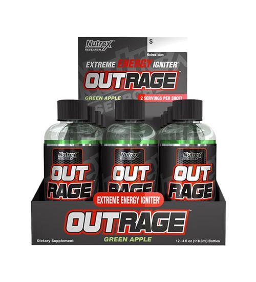 Nutrex OUTRAGE EXTREME ENERGY SHOTS 12 Box - Grocery Deals