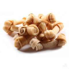 Knotted Raw Hide Dog Small Chew Bones - 5 Pack - Grocery Deals