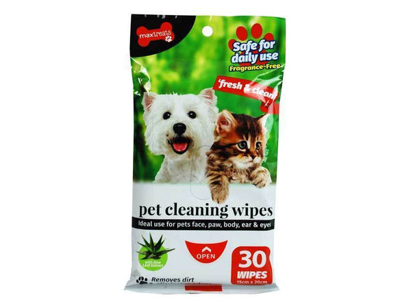 Pet Cleaning Wipes Fragrance Free 30 Sheets - Grocery Deals