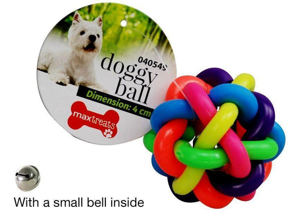 Pet Toy Colorful Ball with Bell 6.5cm - Grocery Deals
