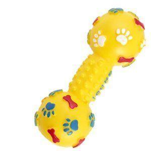 Squeaking Dumbbell Dog Toy - Grocery Deals