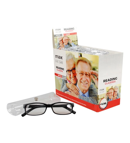 Plastic Reading Glasses with Case - Grocery Deals