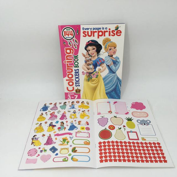Disney Princess Colouring and Sticker Book