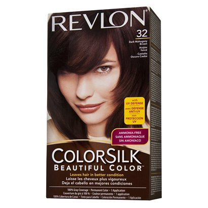 Revlon coloursilk hair colour dark mahongany brown