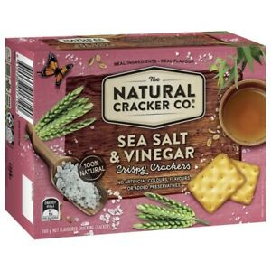 The Natural Cracker Co Sea Salt & Vinegar