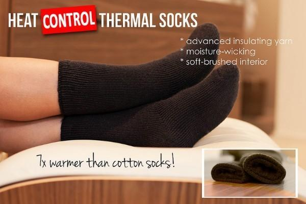 Heat SOX Control Thermal Sock - 1 Pair 2.4tog - Grocery Deals