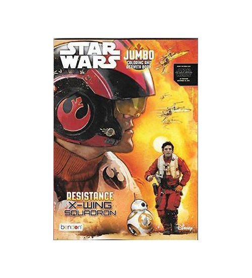 Starwars Jumbo Coloring & Activity Book - Resistance X-Wing - Grocery Deals