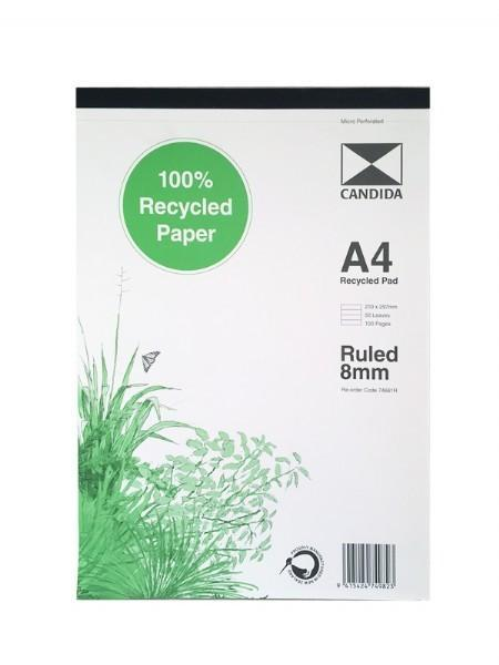 Candida A4 Recycled Ruled 8mm Pad - Grocery Deals